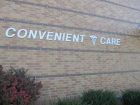 An outside image of the DeKalb Clinic's Convenient Care Center