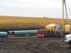 Construction of Flanagan South pipeline in Livingston County, Illinois
