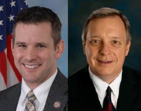 U.S. Rep. Adam Kinzinger, left, and U.S. Sen. Dick Durbin