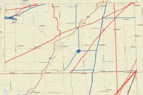 Livingston County pipelines as viewed on the National Pipeline Mapping System