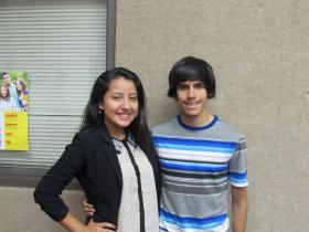 Jefferson students Juliana Solis and Gerardo Castillo