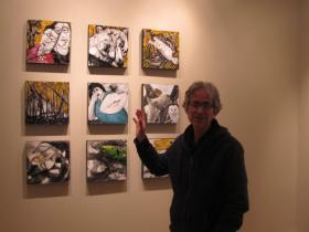 Roni Golan inside his Rockford art gallery