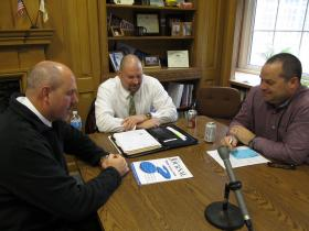 (1-r) Sterling Public Schools Superintendent Ted Everett, Rock Falls High School District Superintendent Ron McCord and Rock Falls Elementary School District Superintendent Dan Arickx