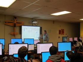 Aviation class at Jefferson High School
