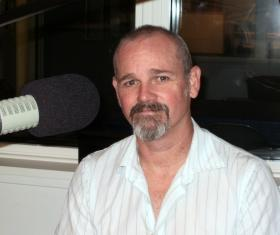 Kelly Daniels in the WNIJ studios.