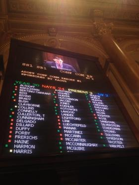 The Senate vote on pensions.