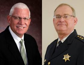 Gary Caruana (R) and Bob Springer (D) will face off this fall in the race for Winnebago County Sheriff.