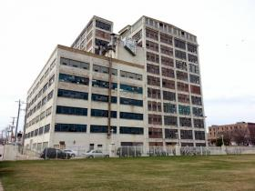 Former Amerock factory, future hotel and conference center in downtown Rockford.