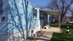 Kim Doty's home in the Evergreen Village Mobile Home Park