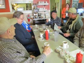 Regular patrons gather at the Kountry Kettle in Elburn