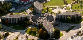 Aerial view of Douglas Hall