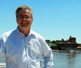 Transform Rockford's Mike Schablaske and the Rock River, on the river walk behind Riverfront Museum Park.