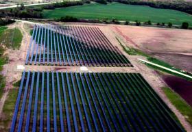 Solar panels near the Rockford Airport.