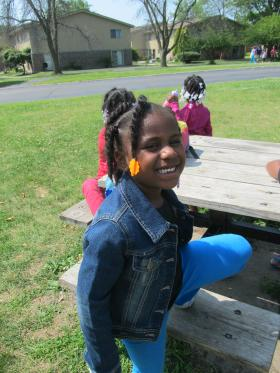 Shakina Staples's daughter Ari enjoys a summer day at Camp Power held at University Village in DeKalb