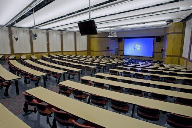 New interior, Cole Hall