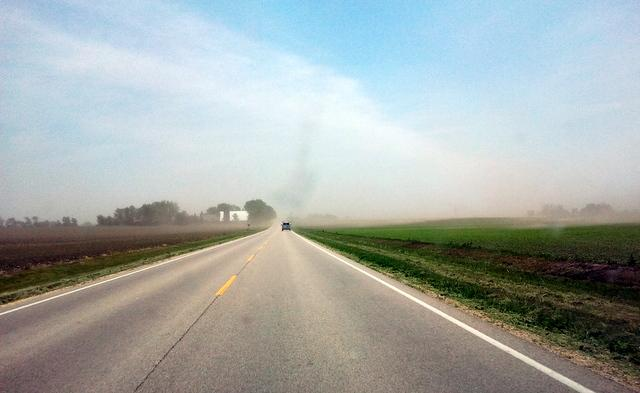 Dust storm in Cherry Valley, Illinois. May 24, 2012