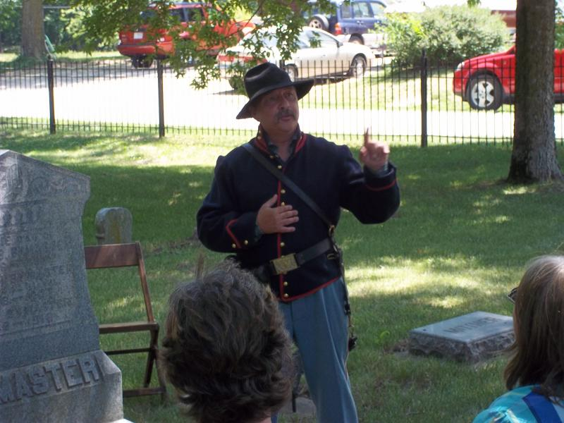 Joseph Bymaster, farmer and Civil War veteran, portrayed by Jeff Lovett