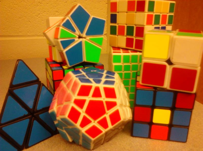John Brechon's collection of cubes
