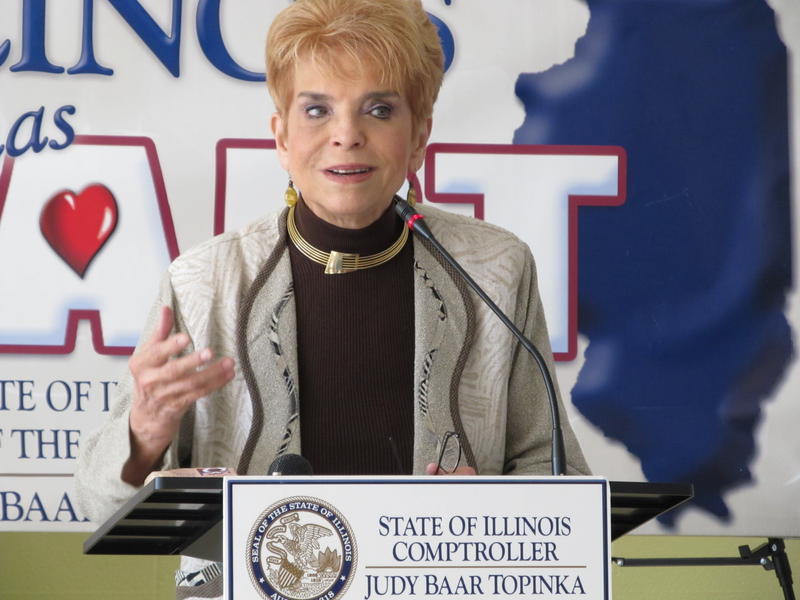 Illinois Comptroller Judy Baar Topinka in Rockford Monday