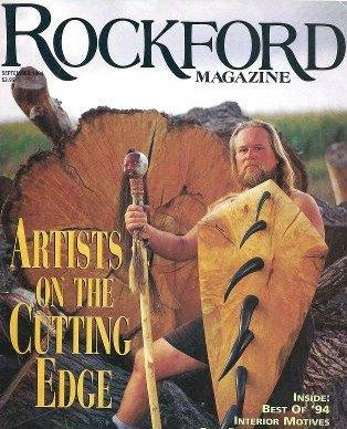 Jim Julin on the cover of Rockford Magazine in 1994.