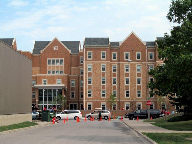 NIU's new residence hall, known officially as The New Residence Hall (for now).