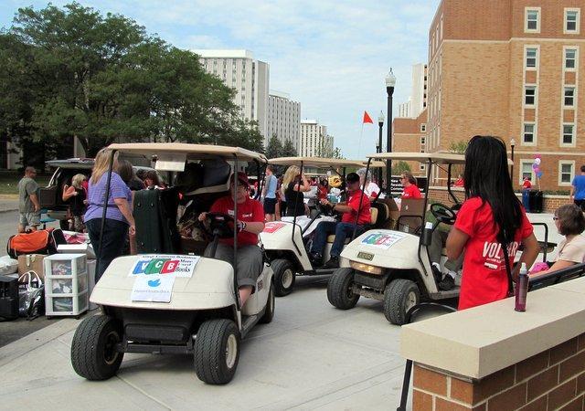 NIU has some talented golf cart drivers.