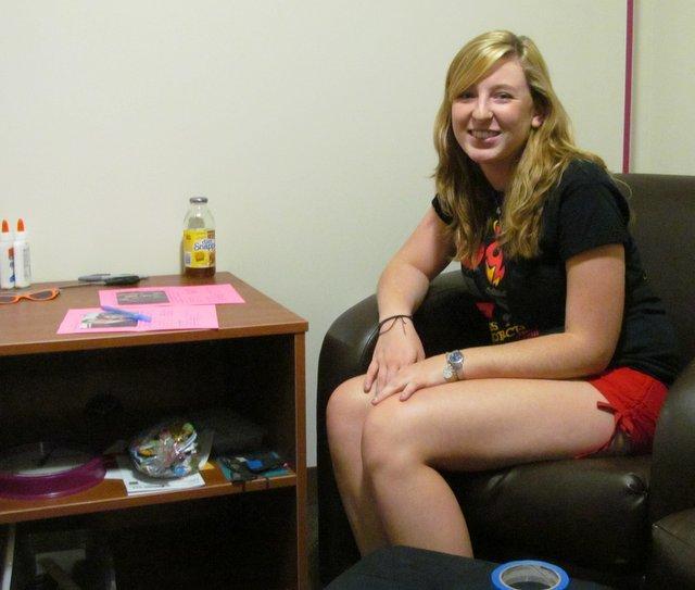 Community Advisor (C.A.) Lindsay Roberts of Peoria.