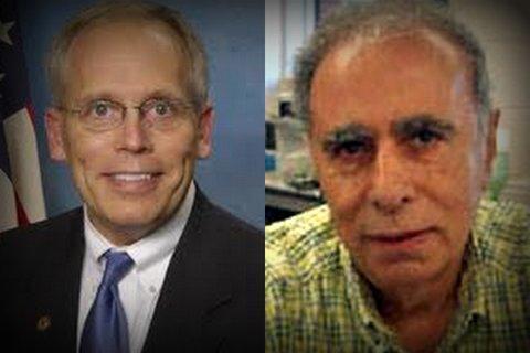 State Senator Dave Syverson and NIU economist Kahn Mohabbat