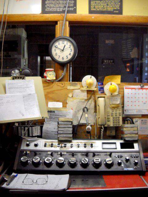 The control room at WLUV in Loves Park.