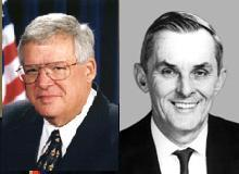 Dennis Hastert & William Lipinkski, former Illinois Congressmen