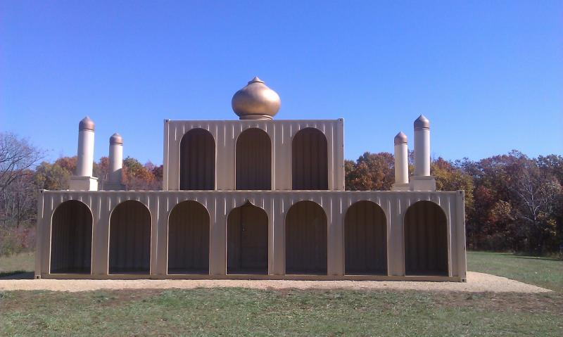 Religious building used in training at National Guard training site in Marseilles, IL