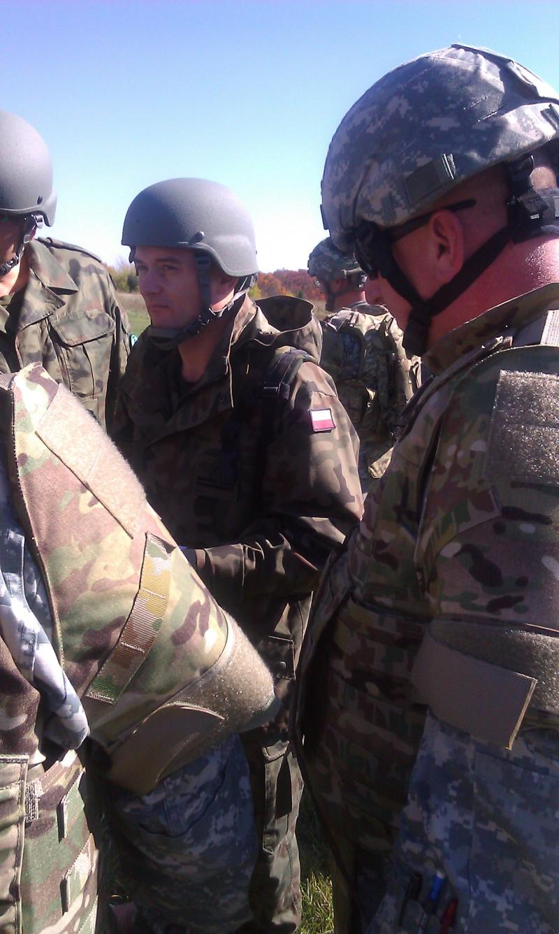 Polish soldier training in Marseilles, IL