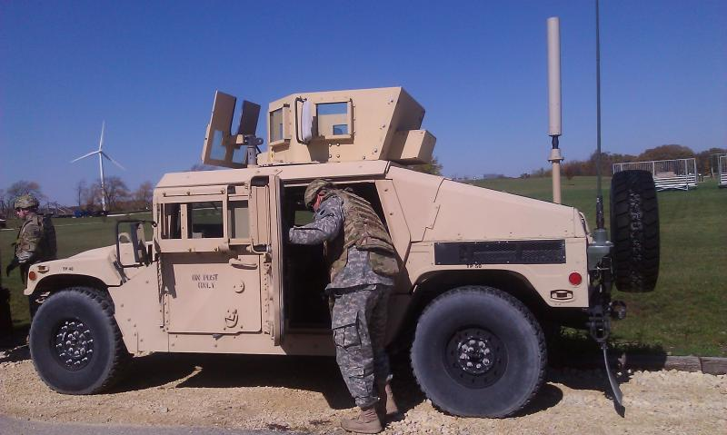 Solider preparing to train in Marseilles, IL