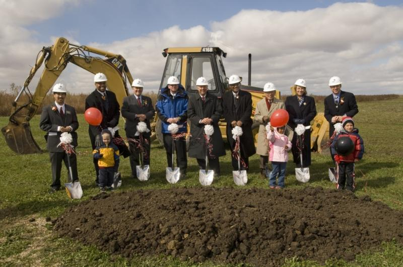 Groundbreaking for a new residence hall on the NIU campus