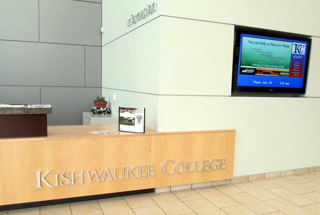 New front desk at Kishwaukee College