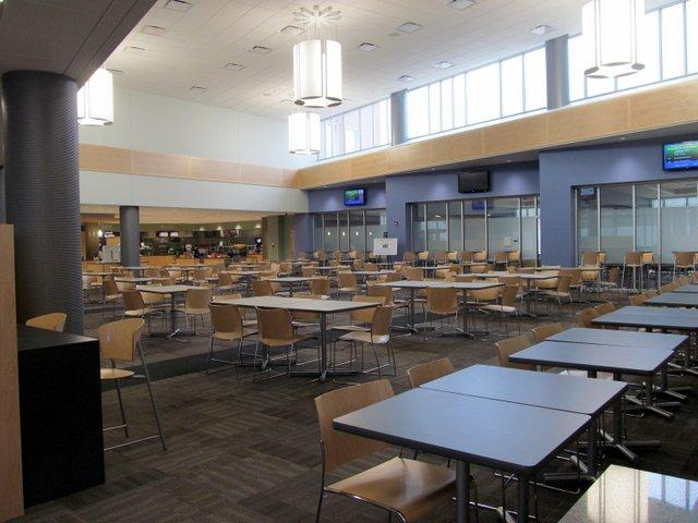 Kishwaukee College's new cafeteria