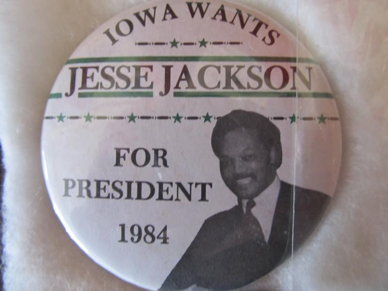 Jesse Jackson 1984 presidential campaign button