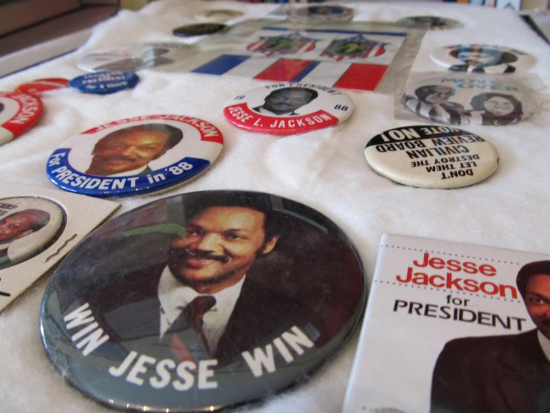 Jesse Jackson presidential campaign buttons
