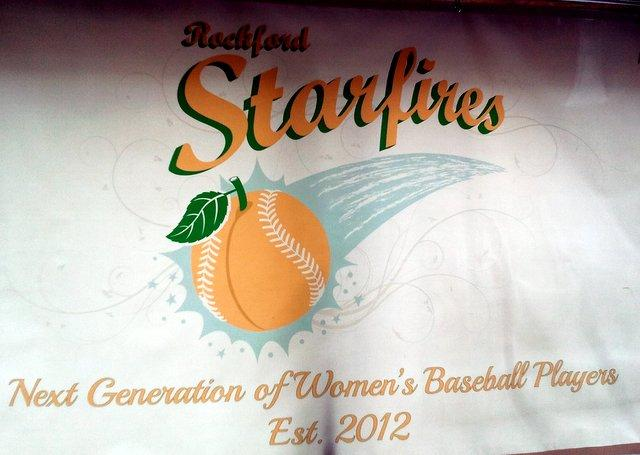 Rockford's new women's baseball team, The Starfires.