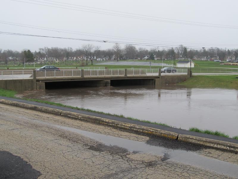 First Street Bridge over the Kishwaukee River in DeKalb 4/18/13