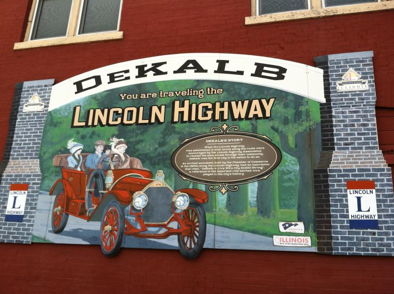 DeKalb's hidden easter egg mural. Can you find it? Clue: It's in DeKalb on Lincoln Highway but can only be seen in one direction. Good luck!
