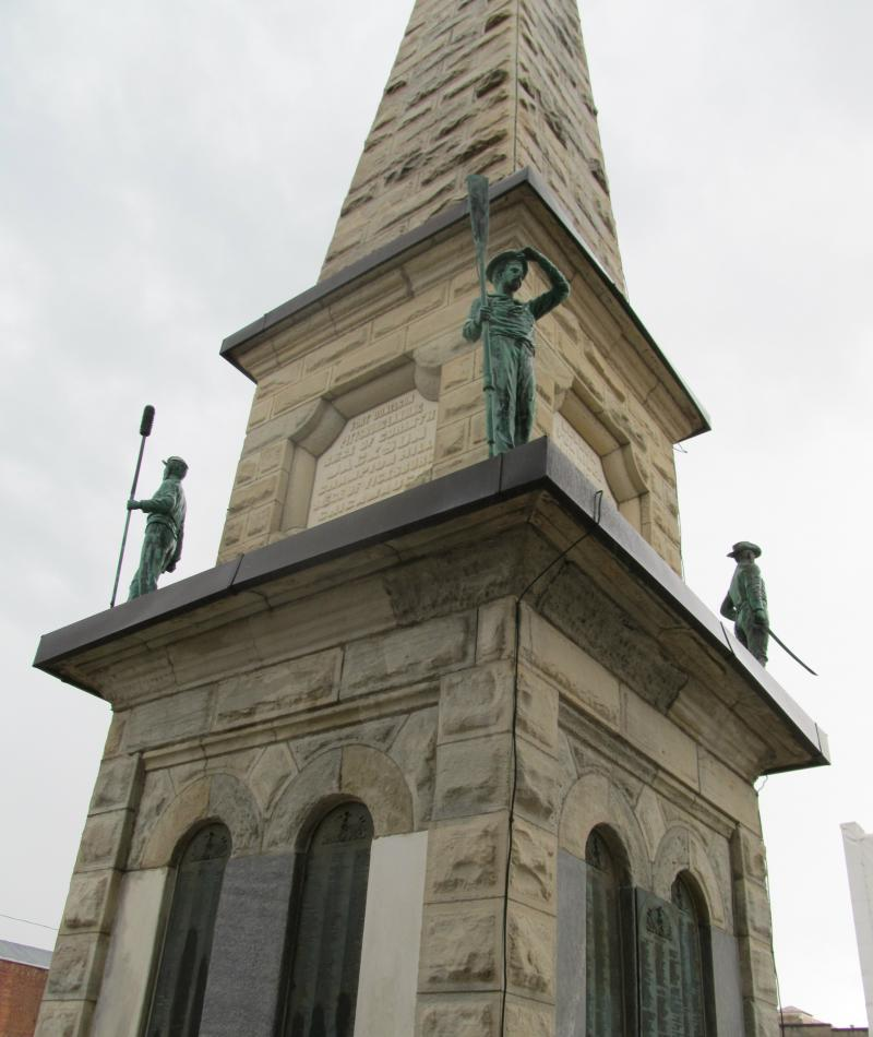 Civil War Monument in Freeport