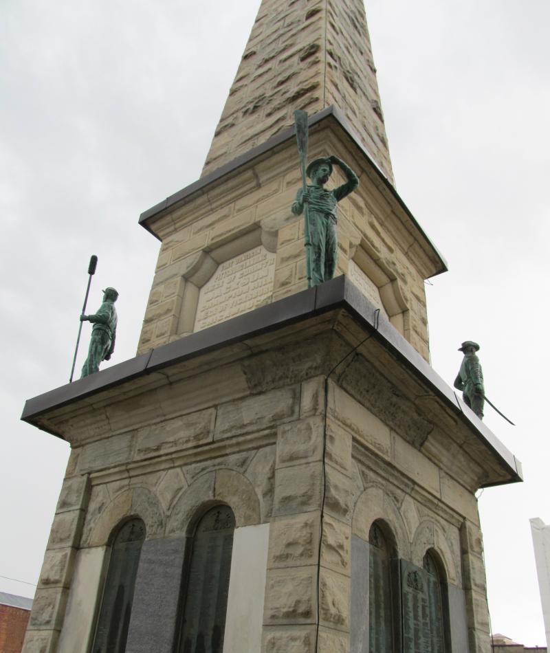 Civil War Monument in Freeport