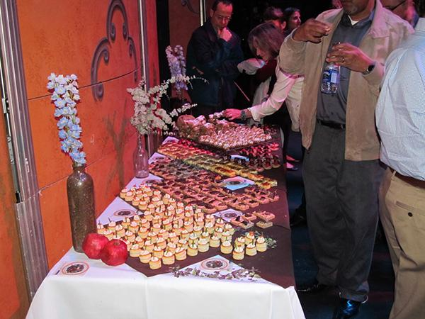 And a peek inside the post-show reception....