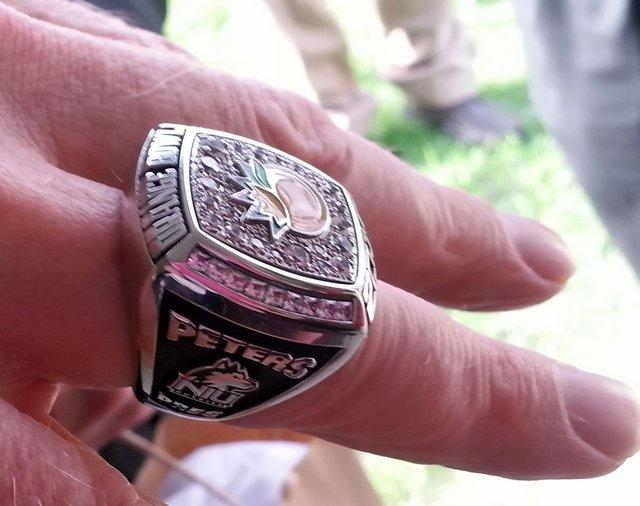 President Peters' Orange Bowl ring