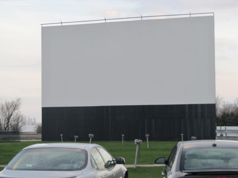 outdoor screen at Earlville's Route 34 Drive-in