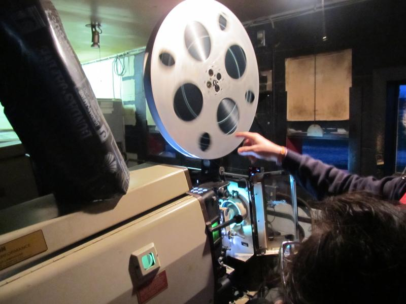 Route 34 Drive-in projector (shown operated by owner Ron Magnoni Jr.