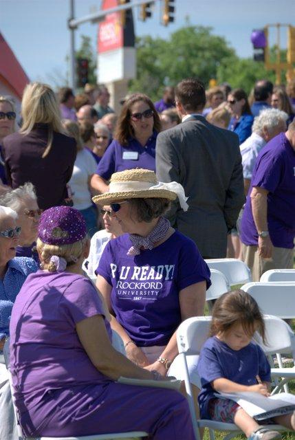 Alumni and well-wishers gathered to make it official: Rockford College became Rockford University on Monday.
