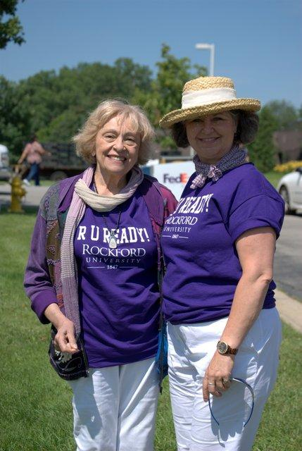 Rockford College alums Shirley Martignoni Fedeli and Leah Nelson are ready to be known as Rockford University graduates.