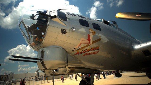 "B-17 ""Aluminum Overcast"" at RFD"
